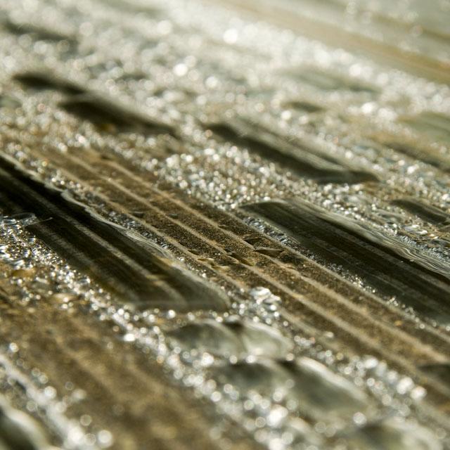 waterdruppels op aluminium